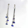 cobalt blue sea glass earrings 1