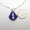cobalt blue sea glass necklace 3