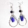 cobalt blue sea glass earrings 5
