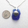 cobalt necklace with shell 3