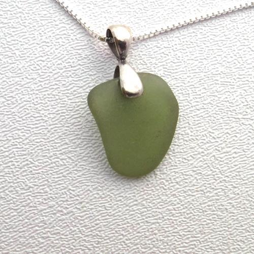sage green necklace 1