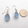 blue sea glass earrings 1