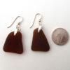 brown sea glass earrings 3