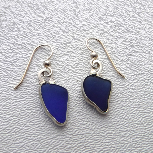 cobalt blue earrings 1