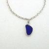cobalt blue sea glass anklet 3