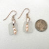 white sea glass earrings with pink pearls 3
