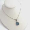 cornflower blue sea glass necklace 3