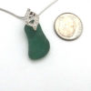 green sea glass necklace 3