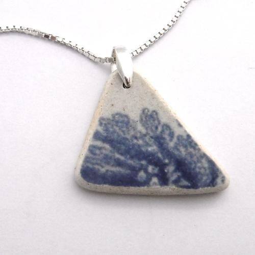 pottery sea glass necklace 1