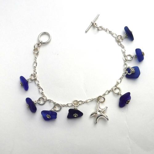 cobalt dangle bracelet 1