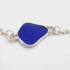 cobalt blue sea glass anklet