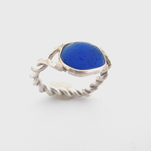 cobalt-blue-sea-glass-rings