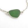 kelly green sea glass bracelet 3