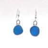 turquoise sea glass earrings 1