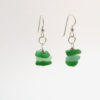 sea glass stacked green earrings5