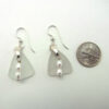 white sea glass earrings with pearls 3
