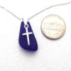 cobalt blue necklace with cross 3