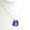 cobalt blue sea glass necklace with sailboat 7