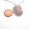 lavender sea glass necklace 3