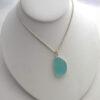 aqua sea glass necklace 3