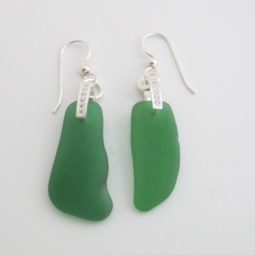 Green Sparkly earrings