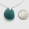 teal sea glass necklace3
