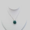 teal sea glass necklace5