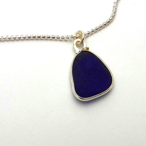 cobalt blue sea glass 1