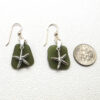 sage green sea glass earrings 3