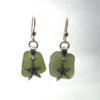 sage green sea glass earrings 5