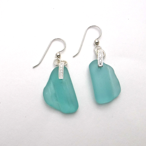 turquoise sparkly earrings 1