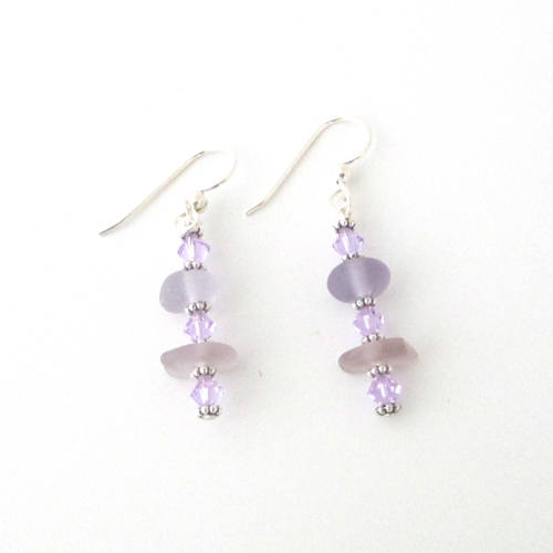 purple earrings 1