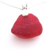 red sea glass necklace with bail5