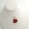 red sea glass necklace with bail9