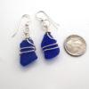 cobalt blue sea glass earrings 3