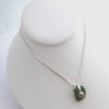 green sea glass necklace with shell 5