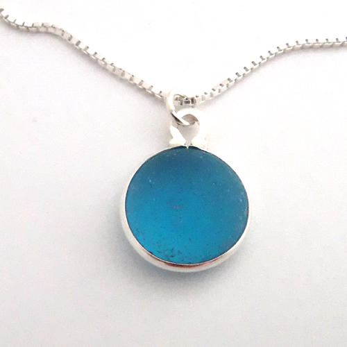 turquoise sea glass necklace 1