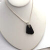 Black sea glass necklace 3