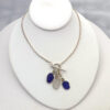blue and white sea glass necklace 5