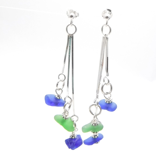 green and blue earrings 1