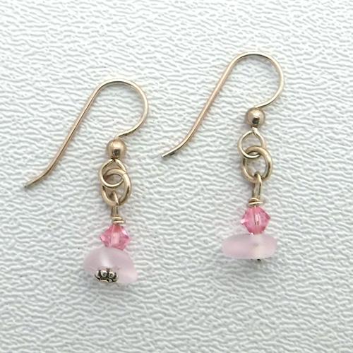 pink sparkle earrings 1