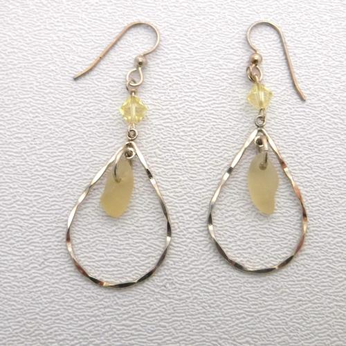yellow earrings 1