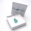 Turquoise sea glass necklace 9