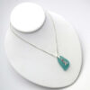turquoise sea glass necklace with lighthouse 5