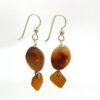 amber sea glass earrings 3