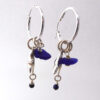 cobalt blue sea glass earrings 1