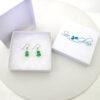 green sea glass earrings 5