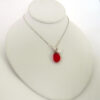 red sea glass and pearl necklace 3