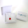 red sea glass and pearl necklace 5