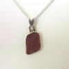 lavendar sea glass necklace 1